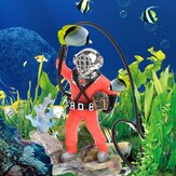 Aquarium Decor Hunter Treasure Figura Azione Fish Tank Ornament Acquario Realistico Design