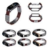 Bakeey Shell de Metal Retro Quatro Anéis Borboleta em Relevo Fivela de Correia de Substituição Relógio Inteligente Banda Para Xiaomi Mi Banda 5