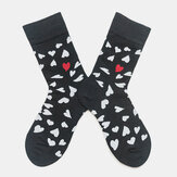 Cotton Socks Heart-Shaped Trend Middle Tube Socks Couple Men And Women The Same Paragraph