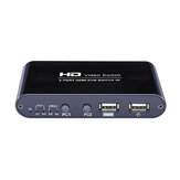 AIMOS HD Video Switch 2 Port HDMI KVM Switch 4K Share Switcher Splitter Box om printertoetsenbordmuis te delen