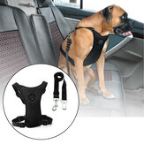 Size L Air Mesh Dog Car Seat Belt Adjustable Harness with Clip Lead Pet Travel