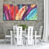 3 Cascade Pintura abstracta moderna enorme de la lona Pintura decorativa de la pared Decoración casera Unframed