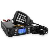 QYT KT-980 Plus VHF 136-174mhz UHF 400-470mhz 75W Dual Band Base Car Mobile Radio Amateur