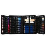 H & B HB-CBPB145 145 Adet Renkli Eskiz Kalem Seti Profesyonel Sanat Malzemeleri İçin Yüksek Kaliteli Boyama Parçalar Fermuar Kılıf