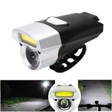 XANES DL08 650LM COB/ T6 Bead 15 Modes Bike Light Waterproof USB Charging Bike Front Light