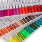 48/ 60/ 100 Color Watercolor Markers for Drawing Painting Set Professional Water Coloring Brush Pen Set