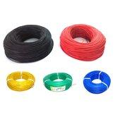 10m Soft سيليكون سلك 22AWG للحرارة OD 1.7mm كابل مرن أسود / أبيض / أحمر / أخضر / الأزرق RC نموذج