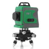 12 Linhas 635nm 3D Luz Verde Laser Nível Auto Nivelamento 360 ° Rotary Medir Cruz