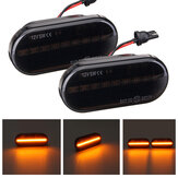 Smoked Lens Amber LED Side Marker Lights Turn Lamps For VW Golf MK4 1997-2005 Bora