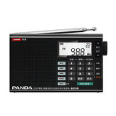 PANDA 6208 FM AM MW SW Completo Banda Rádio DSP Digital Tuning Alarm Relógio Display de temperatura MP3 Music Play