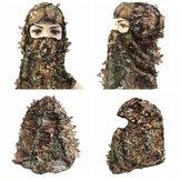 Caça ao acampar Caminhadas Ciclismo Tactical Camuflagem Militar Fan Headgear Conjuntos de colar Chapéu Face Ma