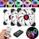 Coolmoon 3PCS 120mm regulowany RGB LED Light Obudowa komputera Wentylator PC z pilotem