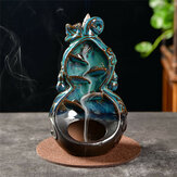 Backflow Waterfall Ceramic Incense Burner Censer Home Yoga Relax Creative Decoration