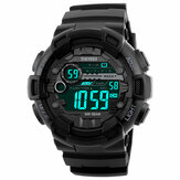 Original              SKMEI 1243 Fashion Luminous Pantalla Chrono Alarm Countdown Men Watch Reloj digital dual Pantalla