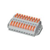 600 В 32 А Провод Коннектор 10 входов 10 выходов Провод Клеммный блок сплиттера Компактный кабель для проводки Коннектор Вставной проводник