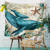 MarineAnimalNordicStyleTapestryWall Wiszący ręcznik plażowy Art Carpet Decorative Gobelin