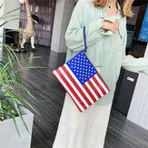 Mode Amerikaanse vlag Onafhankelijkheidsdag Persoonlijkheid Koppelingen Tas Handtas Envelopzak