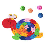 26Pcs Multicolor Letter Children's Educational Building Blocks Snail Toy Puzzle Pour Enfants Cadeau