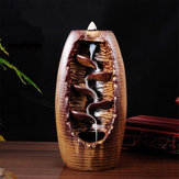 Backflow Incense Burner Ceramic Censer Cone Aromatherapy Home Decor Holder