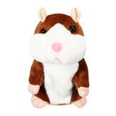 16/18 cm Speaking Hamster Plush Toy Children Registra Sound Game Batteria Powered Toys