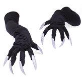 قفازات طويلة القفازات هالوين تأثيري الدعائم الدعاوى اليد الأكمام الكفوف الأداء باو