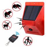 KCASA-N911C Solar Alarm Light IP65 Wodoodporny pilot zdalnego sterowania Anti-Animals Flash Ostrzeżenie Bezpieczeństwo Dźwięk Światło