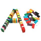 100pcs muchos colores auténticos juguetes de dominó de madera estándar para niños