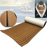 240x60x0.5cm EVA Boat Flooring Pad Faux Teak Decking Sheet Non-Slip Self-Adhesive Kayaks Mat Outdoor Boating