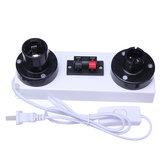 1.35M Two Groups 2 Pin LED Test Clip Light Base with Switch for E27 B22 Bulb Strip Light US Plug AC220V