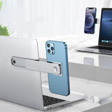 Oatsbasf 2-IN-1 Dual Monitor Display Magnetic Aluminum Alloy Macbook Stretching Side Holder Mount for Mobile Phone Tablet