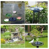 Outdoor LED Solar Powered Bird Bath Water Fountain Pump For Pool Garden Aquarium