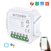 BlitzWolf® BW-SS7 ZigBee3.0 2300W Smart Light Switch Module 1 Gang / 2 Gang Wireless App remoto Controllo Controllo vocale Programma orario Funziona con Amazon Alexa e Google Assistant