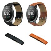 Bakeey 22mm Universal Watch Band Leather Watch Strap for Haylou Solar/ Huawei Watch GT/ Xiaomi Watch Color/ BW-HL3 BW-AT1/ Amazfit GTR 47MM Non-original