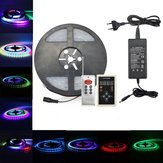 5M SMD5050 IC6803 RGB Remote Control Waterproof LED Strip Light+RF Controller+Power Adapter DC12V
