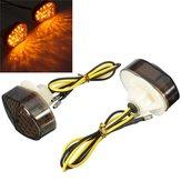 2 stuks 12V Rook 15 LED Flush Mount Draai Signal Blinker Universal