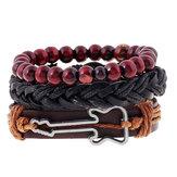 vendimia Buddha Beads Bracelet Guitar encanto Multicapa