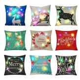 LED Kreative Weihnachtskissen Abdeckung Weihnachten Druck Sofa Kissenbezug Weihnachten Teil Liefert