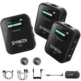 SYNCO G2 A2 A1 Μικρόφωνο G2A1 G2A2 Wireless Lavalier Mic System for Smartphone DSLR Camera Realtime Monitor 70M Transmission