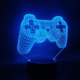 Game Fans Console Handle Dropship Multi-Color Battery Operated for Desk Led Night Light Hologram 3D Lamp Pretty Reward