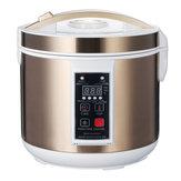 6L 90W Otomatis Bawang Putih Hitam Fermentor Yogurt Pembuat Cerdas Contro DIY Cooker 110V / 220V