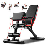Multifunctional 5-in-1 Foldable Exercise Bench 7 Gears Adjustable AB Abdominal Training Fitness Weight Bench Max Load 350kg