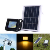 solare Powered 54 LED Sensore Warm White Flood Light Outdoor impermeabile IP65 Security Garden lampada