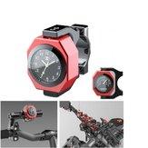 22-28mm Motorrad Uhr + Thermometer Leucht Wasserdicht Lenker Mount