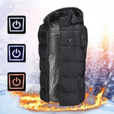 TENGOO Unisex 3-Gears Heated Jackets USB Electric Thermal Clothing 2 Places Heating Winter Warm Vest Outdoor Heat Coat Clothing