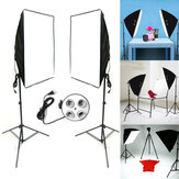 2x Studio Fotografie Video Softbox Lampstatief Continu Verlichting Kit 50x70cm