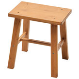 Solid Wood Square Stool Small Children Chair Square Bamboo Stool for Home Living Room Bedroom