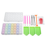 22Pcs 5D Diamond Paintings Embroidery Tool Storage Bag Box Pen Kits