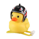 Cartoon Yellow Silica Broken Wind Duck Helmet Head Horn Motorcycle Bicycle Light Shining Mountain Bike Handlebar Head Light Bell Accessories