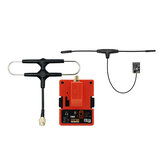 FrSky R9M 2019 900MHz Long Range Transmitter Module and R9 MX OTA ACCESS 4/16CH Long Range Enhanced Receiver Combo with Mounted Super 8 and T antenna
