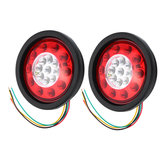 19 LED Truck Lorry Brake Lights Stop Turn Tail Lâmpada Borracha preta Turn Signal Stop Lights